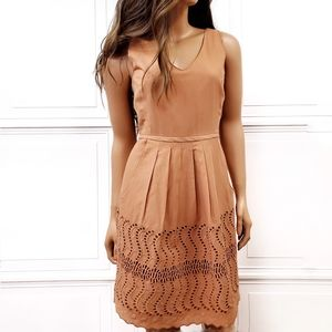J CREW Eyelet Lace Cotton Sleeveless Tank Dress 0